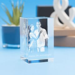 Anniversary Tower Crystal, 3D Engraved