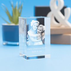 Christmas Tower Crystal, 3D Engraved