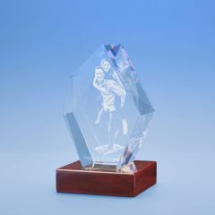 Anniversary Prestige Crystal, 3D Engraved
