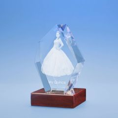 Birthday Prestige Crystal, 3D Engraved
