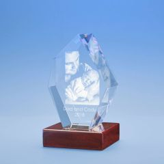 Father's Day Prestige Crystal, 3D Engraved