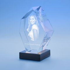 Memorial Prestige Crystal, 3D Engraved