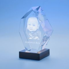 Mother's Day Prestige Crystal, 3D Engraved
