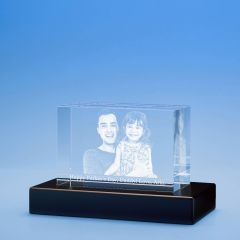 Father's Day Brick Crystal, 3D Engraved