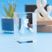 Graduation Tower Crystal, 3D Engraved