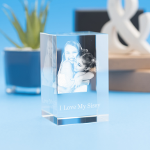 Just Because Tower Crystal, 3D Engraved