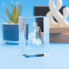 Aquarius Zodiac Sign Tower Crystal, 3D Engraved