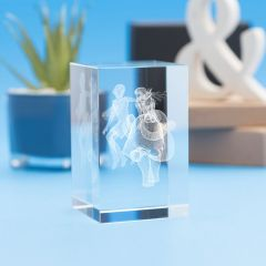 Aries Zodiac Sign Tower Crystal, 3D Engraved
