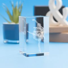 Ballet Sports Tower Crystal, 3D Engraved