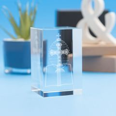 Bible Religious Designs Tower Crystal, 3D Engraved