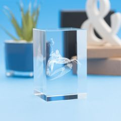 Cancer Zodiac Sign Tower Crystal, 3D Engraved
