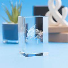 Capricorn Zodiac Sign Tower Crystal, 3D Engraved
