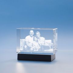 Christmas Brick Crystal, 3D Engraved