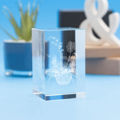Gardening Hobbies Tower Crystal, 3D Engraved