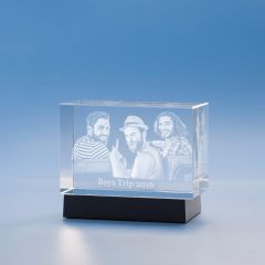 Just Because Brick Crystal, 3D Engraved