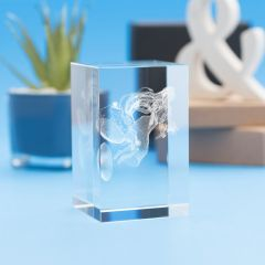 Libra Zodiac Sign Tower Crystal, 3D Engraved