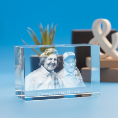 Memorial Brick Crystal, 3D Engraved