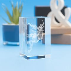 Sagittarius Zodiac Sign Tower Crystal, 3D Engraved