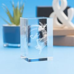 Scorpio Zodiac Sign Tower Crystal, 3D Engraved
