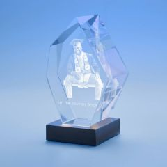 Graduation Prestige Crystal, 3D Engraved