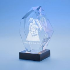 Wedding Prestige Crystal, 3D Engraved