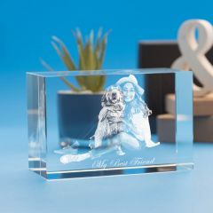 Pets Brick Crystal, 3D Engraved