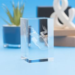 Taurus Zodiac Sign Tower Crystal, 3D Engraved