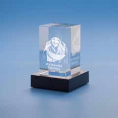 Valentine's Day Tower Crystal, 3D Engraved